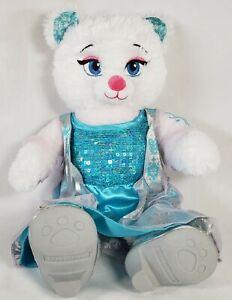 """Elsa Build a Bear White Blue Dress and Shoes Disney Frozen 16"""" Sparkle Snowflake"""