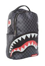 Sprayground Gray Black Damier Sharks In Paris Book Bag Backpack 910B1374NSZ