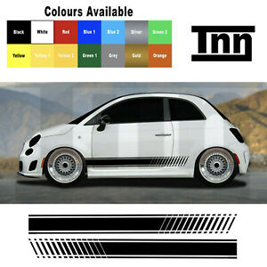 Side Stripes Stickers Decals For Abarth Fiat 500 595 Punto Spider Livery