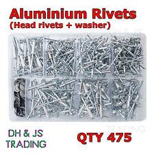 Assorted Box of Pop Rivets & Washer (Most Popular) Aluminium Head Qty 475