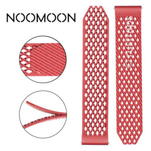 Noomoon LABB Loopless And Buckleless Rubber RED Watch Strap Band