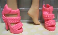 Barbie Doll Model Muse neon PINK OT RUFFLE STUD SPIKE High Heel Dress Shoes