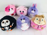 """Ty Beanie Ballz 5"""" Plush Animals Lot Of 5 Lilac Beans Brittany Alvin Rosa"""