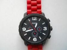 Fossil chronograph men's rubber band,quartz,battery & Analog dress watch.Jr-1422
