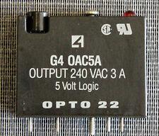 OPTO 22 G4 OAC5A 240VAC 3A 5 VOLT LOGIC DIGITAL OUTPUT I/O MODULE