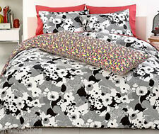 New Trina Turk SOPHISTICATED FLORAL Black Print FULL/QUEEN 3pc Comforter/Shams