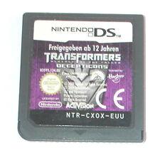Spiel: TRANSFORMERS RACHE DER DECEPTICONS (Modul) Nintendo DS + Lite + Dsi + XL