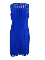 Lauren by Ralph Lauren Women's Petite Geometric Square Lace Dress