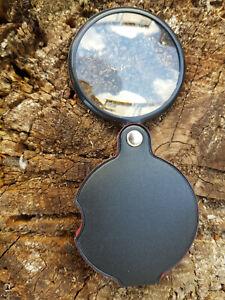 60mm. Mini Taschen Lupe Faltlupe Leselupe Vergrößerungsglas Brennglas Handlupe