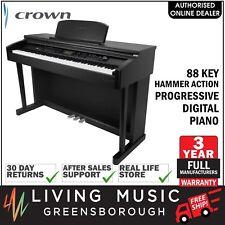 NEW Crown 88 Key Hammer Action Progressive Console Digital Piano (Black)