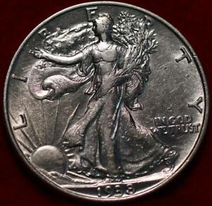 Uncirculated 1938 Philadelphia Mint Silver Walking Liberty Half