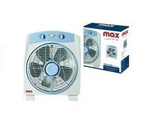 Ventilatore da tavolo box 3 velocita' 45w timer diffusore rotante Max Casa I0101