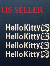 Set Of 4 Hello Kitty Car Sticker / Window / Wall / / LapTop / iPad Sticker  #26