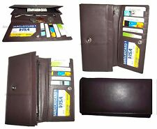 Lot of 4 New Women's checkbook wallet Unbranded leather Ladies checkbook wallet*
