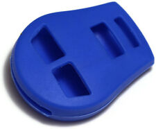 Blue Key Fob 3 button Cover Jacket Silicon Pouch Bag Fits Nissan