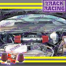 DUAL 04-11 DODGE DAKOTA/DURANGO/RAM/NITRO V6 TWIN AIR INTAKE KIT+K&N Black Red
