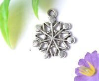 20pcs tibet silver snowflake charms pendant SH848