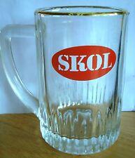 UK / BRITISH - SKOL LAGER HALF PINT BEER GLASS / MUG