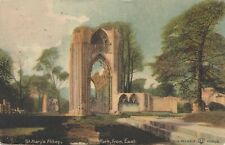 Postcard - York - St. Mary's Abbey from the East