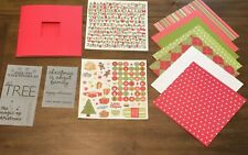 Christmas Paper Scrapbook Kit DIY Craft Paper Stickers Project Activity