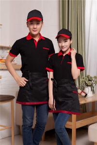 Newest Smart Waiter Work wear Hotel Restaurant Coffee House Unisex Uniform Cloth