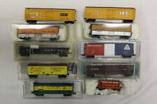 Assorted N Gauge Freight Cars Life-Like, Atlas, Kadee, Micro-Trains (Lot of 10)
