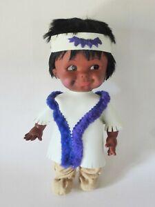 "Large 13"" Eskimo doll by Regal Canada, 1960s, Mid Century Decor, Kitsch, Cute!"