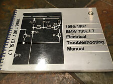 1986 1987 BMW E23 735i L7 735iL Electrical Troubleshooting Wiring Diagram Manual