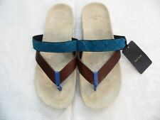 PAULS SMITH JEANS MENS SUMMER SANDALS  SIZE MEDIUM BROWN/BLUE TOE PIECE