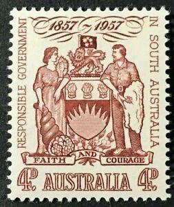 Australia Sc# 304 4d  1957 Coat of Arms Mint NH OG VF/XF (1-87)