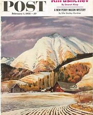 The Saturday Evening Post February 1 1958 John Clymer Vintage Americana