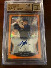 2013 Bowman Chrome Orange Refractor RC AUTO Wil Myers San Diego Padres BGS 9.5