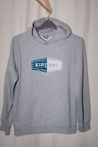 Ripcurl Ladies Grey Hoodie Sweatshirt Uk Size 16