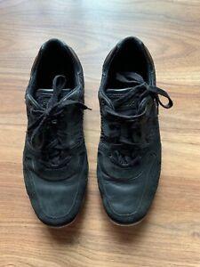 MENS' GEOX U Sandford AMPHIBIOX  Black Leather/Suede SHOES,SZ:US12,UK10.5,EUR45