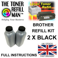 Toner Refill Compatible With Brother TN-2420, TN-2410 Cartridges 2 x Refill Kits