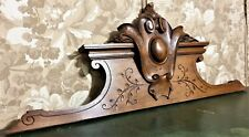 Scroll blason decorative carving pediment Antique french architectural salvage