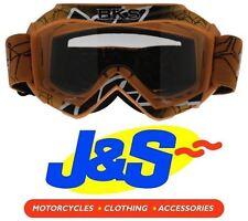 BKS KIDS MX GOGGLES MOTOCROSS GOGGLE MOTORBIKE MOTORCYCLE OFF-ROAD ORANGE J&S