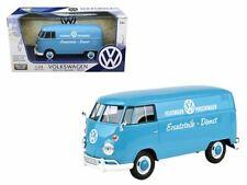 1 24 VW Kombi Delivery Porschewagen Blue MOTORMAX VOLKSWAGEN