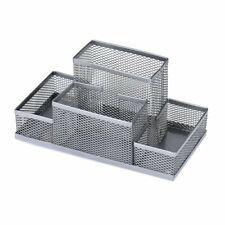 Stainless Steel Mesh Pen Holder Metal Mesh Organizer Desk Stationery Container