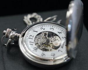 Ravel Gents Mevhanical (Hand Winding) Pocket Watch  UK Stock - Free Engraving