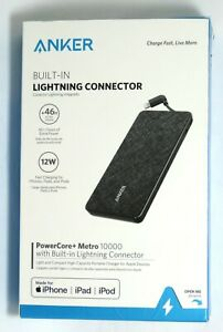 Anker PowerCore+ 10,000 mAh Portable Charger with Built in Lightning Connector