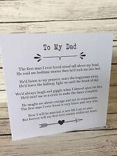 Vintage/Rustic 'To My Dad' Wedding Day Poem Card