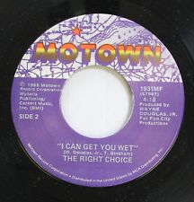Soul Nm! 45 The Right Choice - I Can Get You Wet / Tired Of Being Alone On Motow