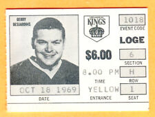 SCARCE LA FORUM 1969 KINGS HOCKEY PHOTO TICKET STUB-10/18/69-DESJARDINS