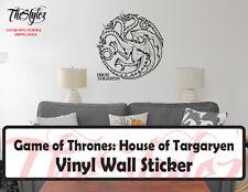 Game of Thrones House of Targaryen Banner Logo Vinyl Wall Sticker