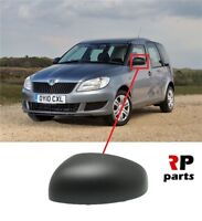 FOR SKODA FABIA 07-15, ROOMSTER 06-15 NEW WING MIRROR COVER CAP BLACK LEFT N/S