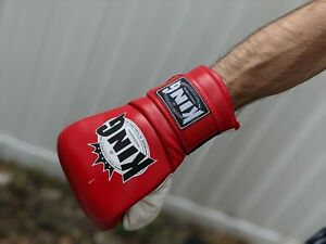 King Boxing Gloves w/ wrist wraps & Everlast Punching Mitts