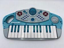 Vtg Blue Kawasaki Electronic Keyboard No. 57765, 8 Instrument Rhythms Works