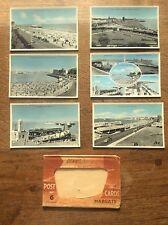 Set 6 colour Real Photograph Postcards Margate Kent Postcard Scene Harbour Beach