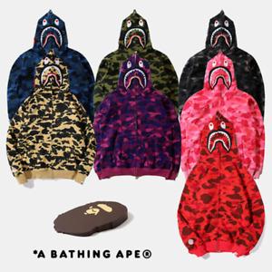 BAPE Bathing Ape Hooded Sweater Men's Hoodie Shark Head Camo Sweatshirt